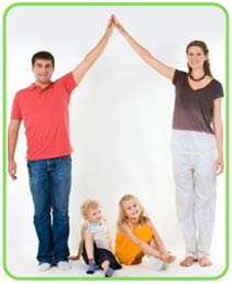 picture of happy insured protected family for motts mortgage insurance page